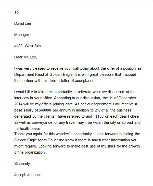 Formal Letters Simple Business Letter Example For Basic Job