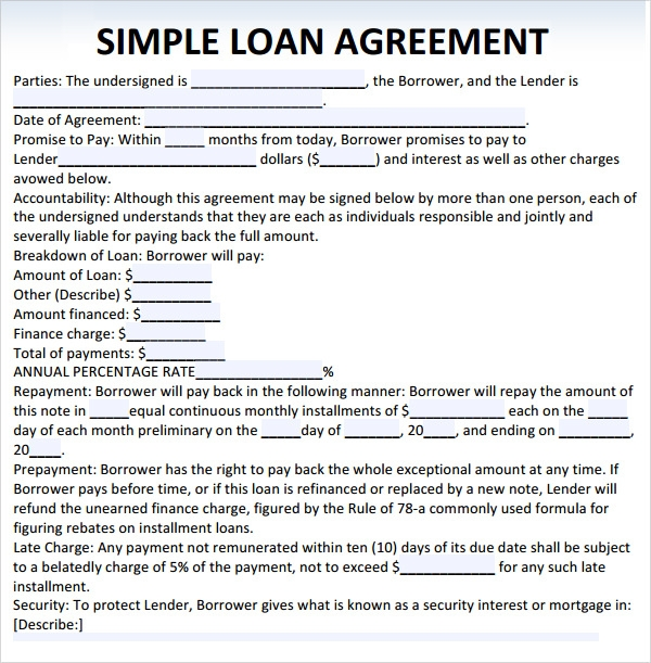 Loan Agreement Template Pictures to Pin PinsDaddy – Free Loan Agreement Template Word