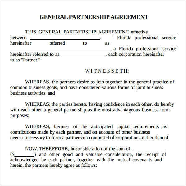 Partnership Agreement - 9+ Free PDF , Doc Download | Sample Templates