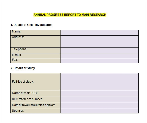 High School Progress Report Template  Progress Reporting Template