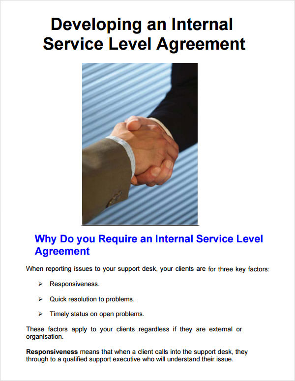 service level agreement best practices pdf