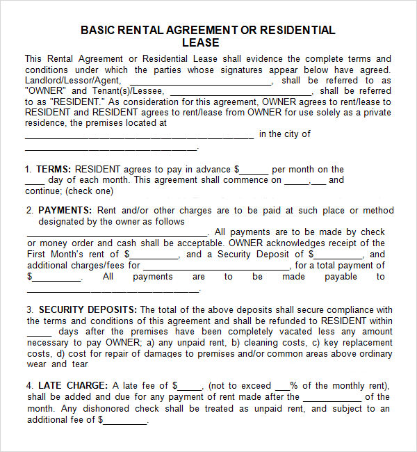 Leasing Agreement   Free Pdf Download