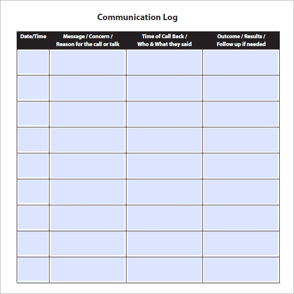 Parent Communication Examples Pictures to Pin PinsDaddy – Communication Log Template