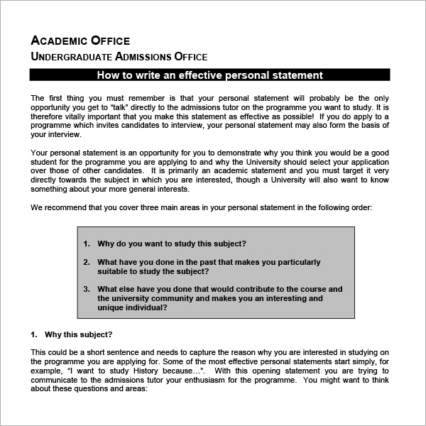graduate school personal statement template .