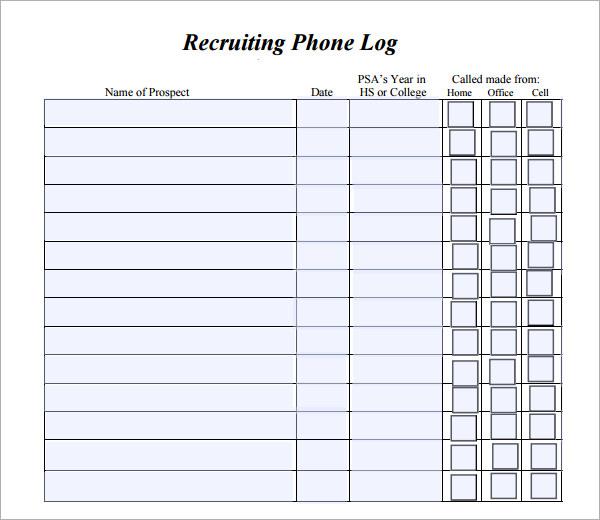 printable phone message log template .