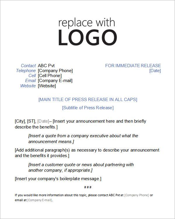 Business press release format – emmamcintyrephotography. Com.