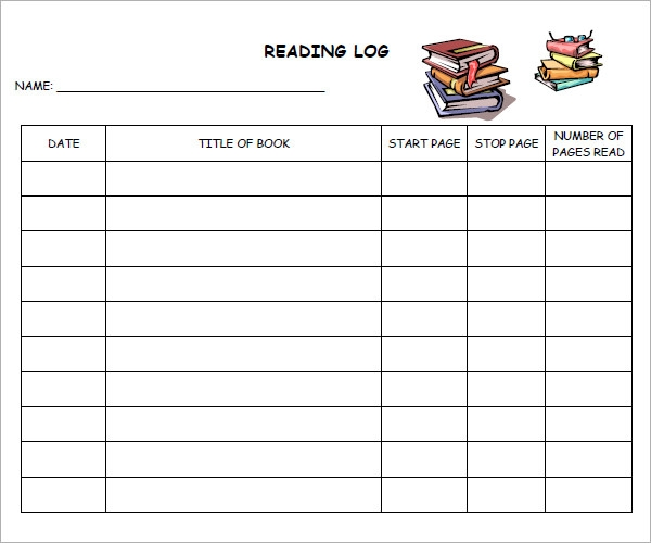 Book report reading logs