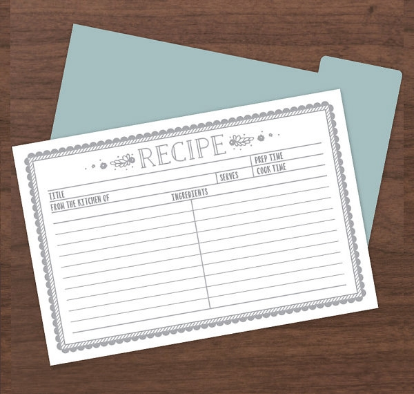 sample recipe format