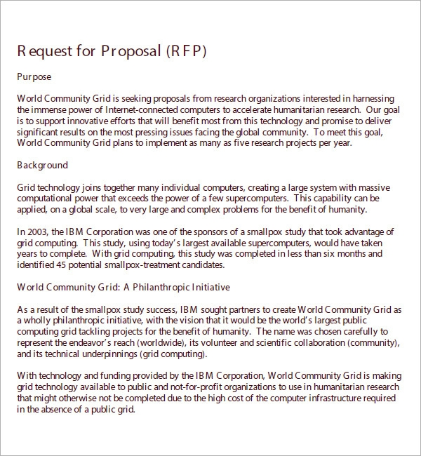 rfp proposal template .