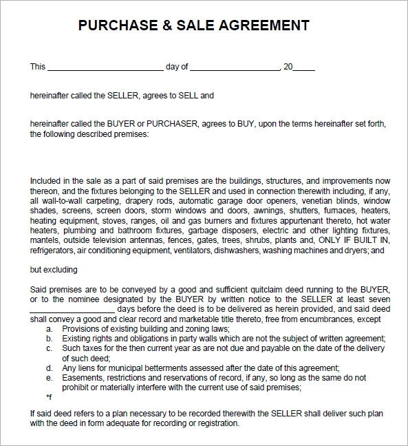 Sales agreement 6 free pdf doc download for Selling a business contract template free