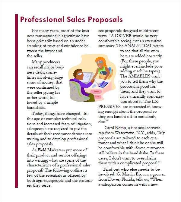 Sales Proposal Template Pdf