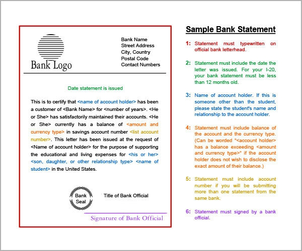 Sample Bank Statement 12 Documents In PDF Word Excel – Sample Statement