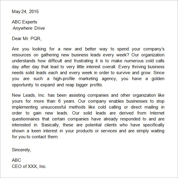 32 sample business proposal letters sample business proposal letter spiritdancerdesigns Gallery