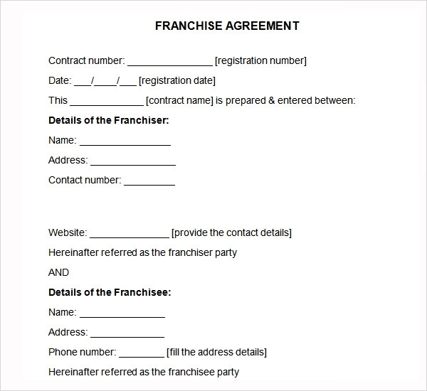 Sample Franchise Agreement - 7+ Documents In Pdf, Word