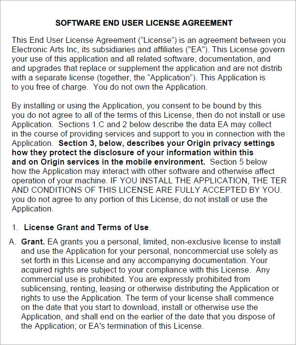 End User License Agreement   Free Pdf  Doc Download
