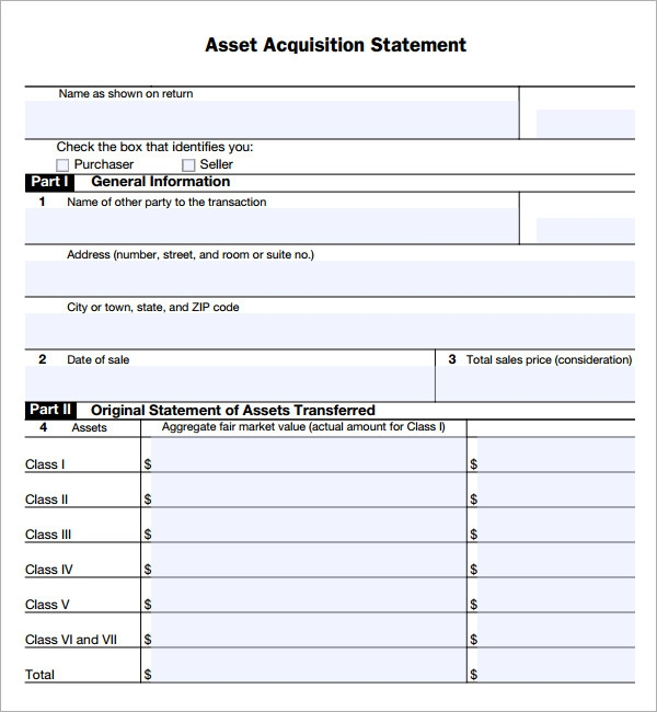 Asset Purchase Agreement 7 Free Pdf Doc Download – Simple Sales Contract Form