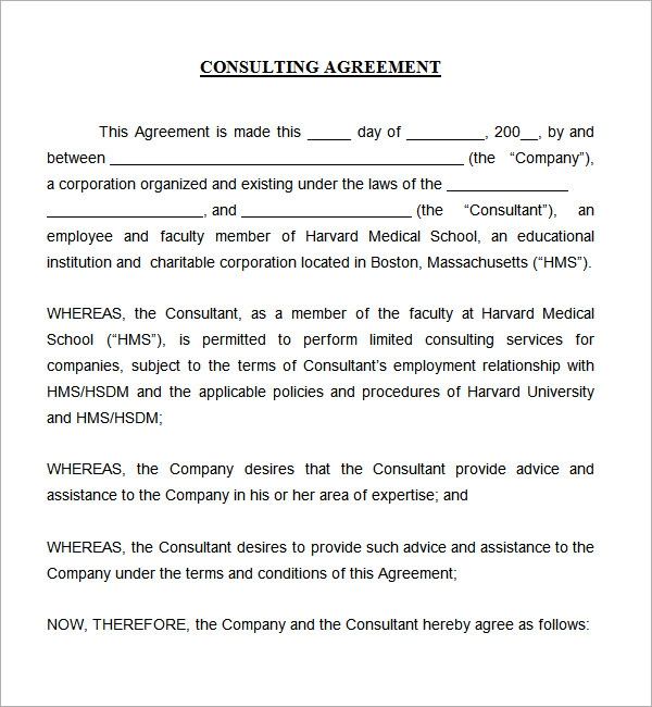 Consulting Agreement 5 Free Pdf Doc Download – Contract Templates for Word