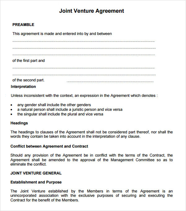 Real Estate Partnership Agreement Sample – Real Estate Contract Template