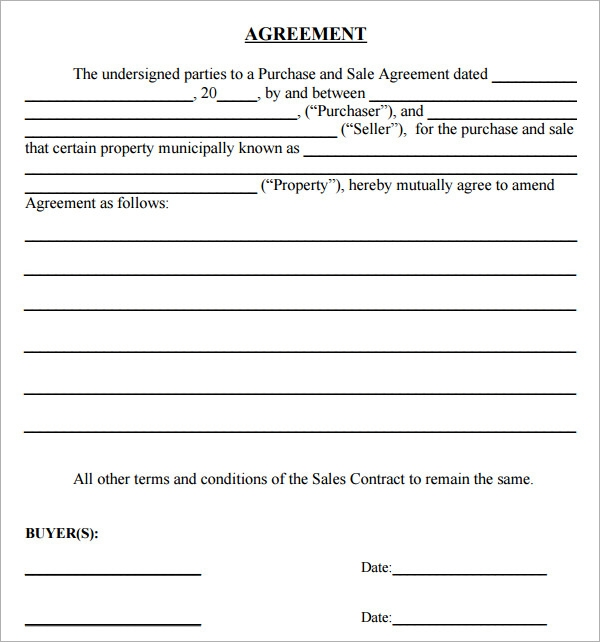 Purchase Agreement 10 Download Free Documents in PDF Word – Agreement to Purchase Real Estate Form Free