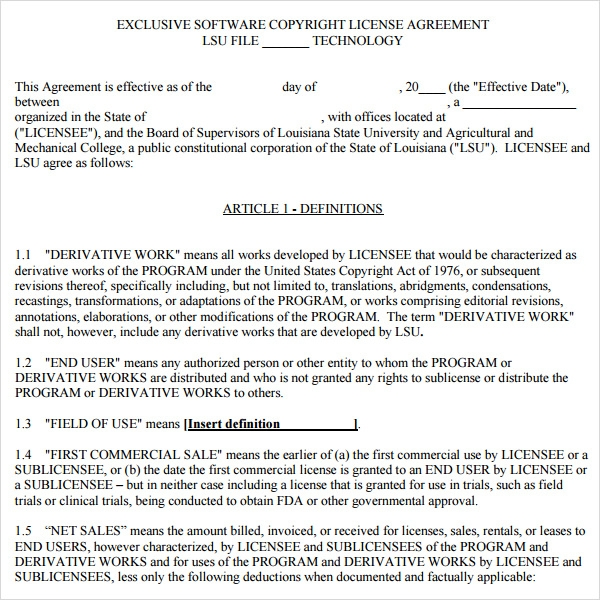 Alteration Agreement Template
