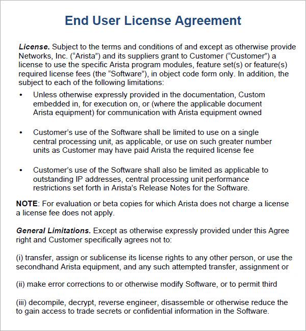 Software Agreement Template