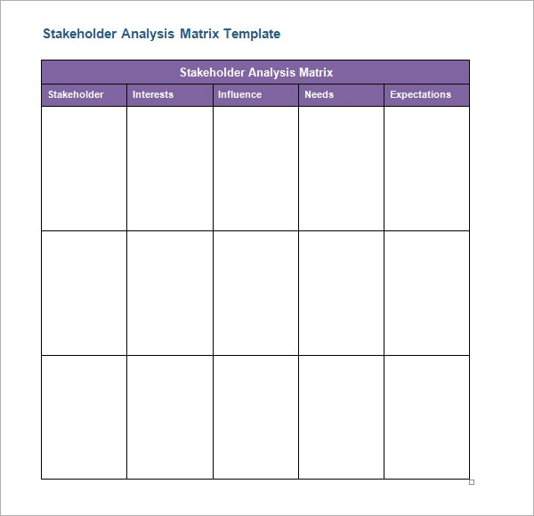 Stakeholder Analysis Sample 8 Documents in Word Excel PDF – Stakeholder Analysis Sample