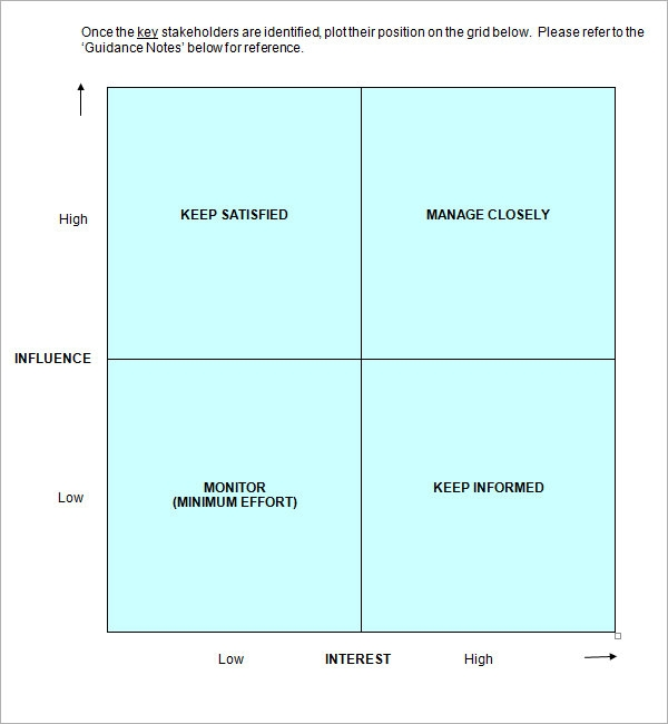 Stakeholder Analysis Sample   Documents In Word Excel Pdf