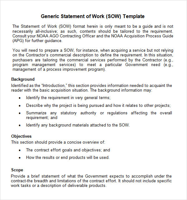 statement of work template zuXFOaCE