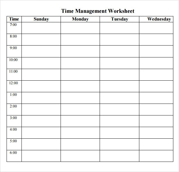 time management log sheet template