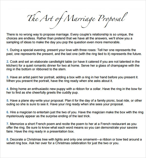 how to write a marriage proposal letter wedding proposal letter – Marriage Proposal Template