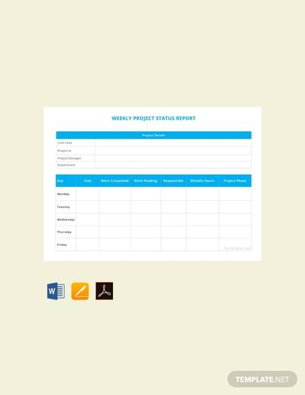 22 Sample Weekly Report Templates Docs PDF Word Pages