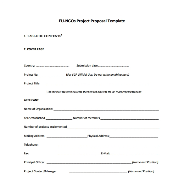 Sample Project Proposal Template 9 Free Documents in PDF Word – Simple Project Proposal Sample