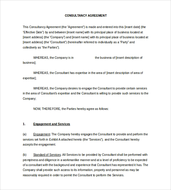 Simple Contract Template 9 Download Free Documents in Word PDF – Simple Business Contract