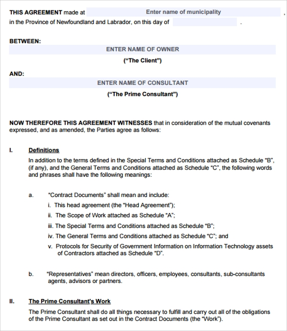 Business Contract Template 7 Free PDF DOC Download – Business Contract Agreement