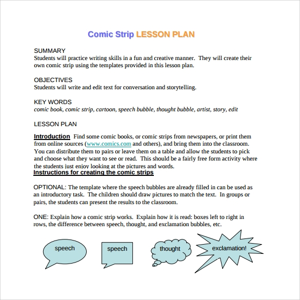 Comic Strip Template 6 Download Free Documents In Pdf