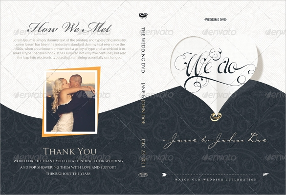 elegant wedding dvd covers and label