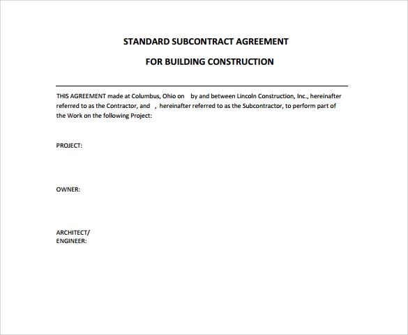 Construction Contract 9 Download Documents in PDF – Construction Contract Template Free