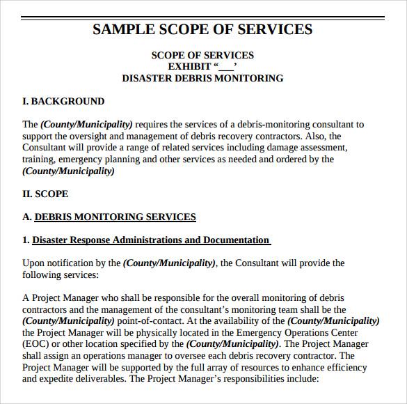 scope of work template - kak2tak.tk