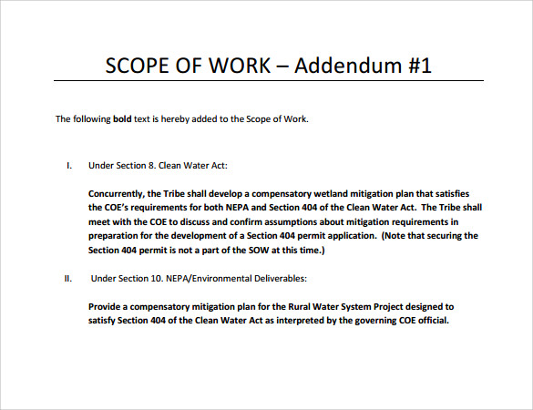 scope of work template pdf