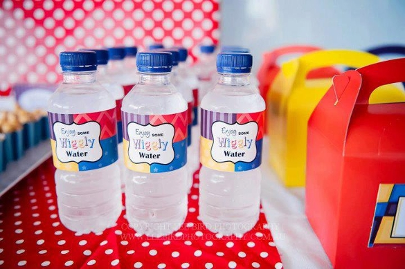 wiggles water bottle label template
