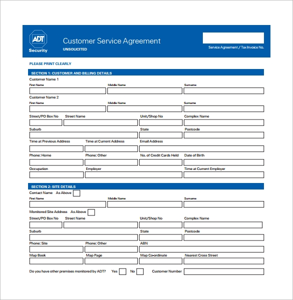 Service Contract Template - 5+ Download Free Documents In Word, Pdf