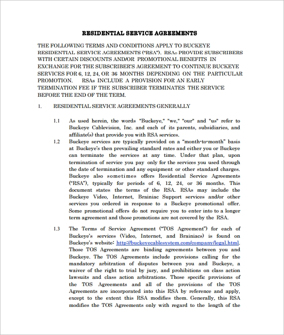free service contract agreement template
