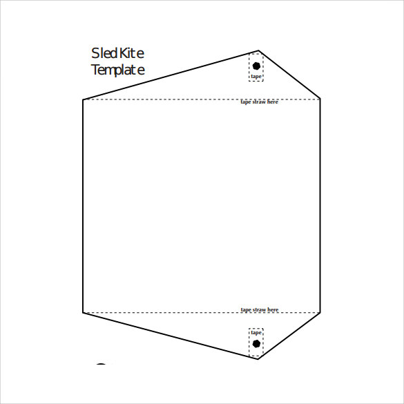 Sled Kite Template Sled Kites  Line Kite Plan Base Kpb Best