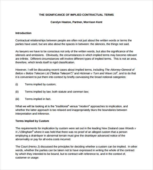 7 Legal Contract Template Download Free Documents In Pdf Doc