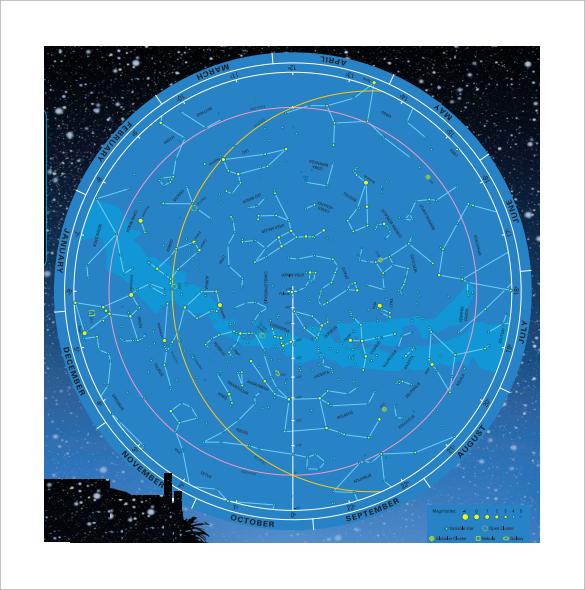hemisphere star chart template