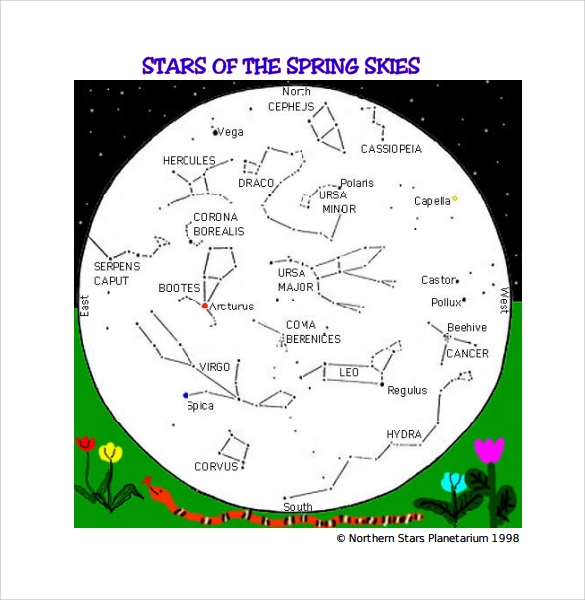 Sample Star Chart   Documents In Pdf