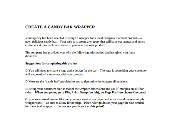 7 sample printable candy bar wrapper templates