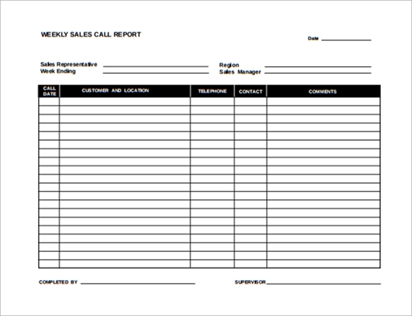Sample Sales Report Template 7 Free Documents Download in Word PDF – Sales Weekly Report Template