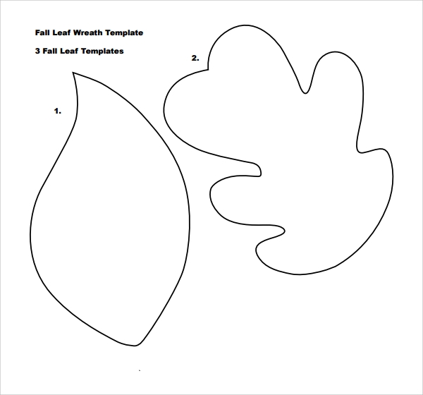 Sample Leaf Template   Free Documents Download In Pdf
