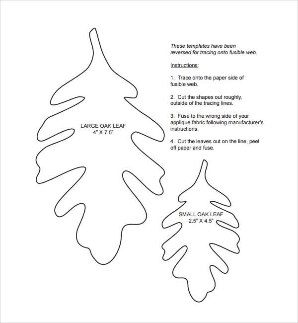 Sample Leaf Template 8 Free Documents Download In Pdf